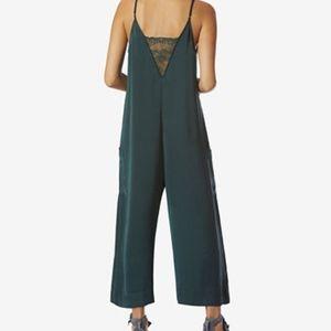 24012dd2929 Avec Les Filles Pants - Avec Les Filles Relaxed Lace-Back Cropped Jumpsuit